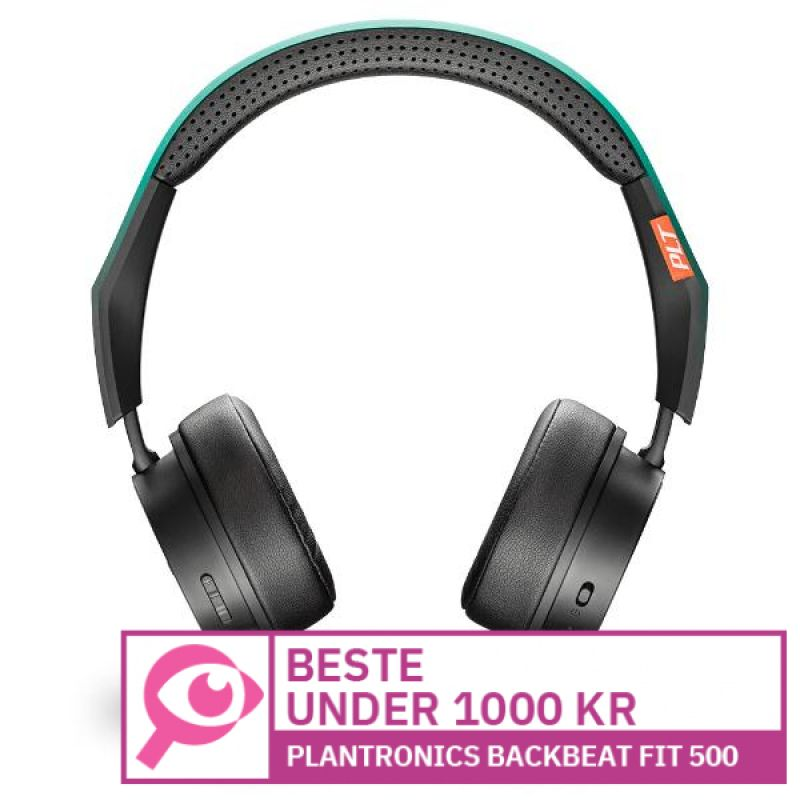 Plantronics BackBeat Fit 500 								 									- Beste on-ear-hodetelefoner til under 1000 kroner